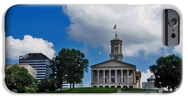 Buildings In Nashville iPhone Cases - Tennessee State Capitol Nashville iPhone Case by Susanne Van Hulst