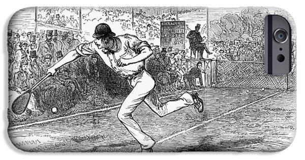 Wimbledon iPhone Cases - Tennis: Wimbledon, 1880 iPhone Case by Granger