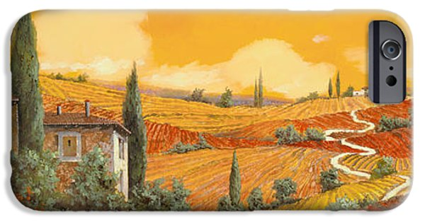 Stairs iPhone Cases - terra di Siena iPhone Case by Guido Borelli