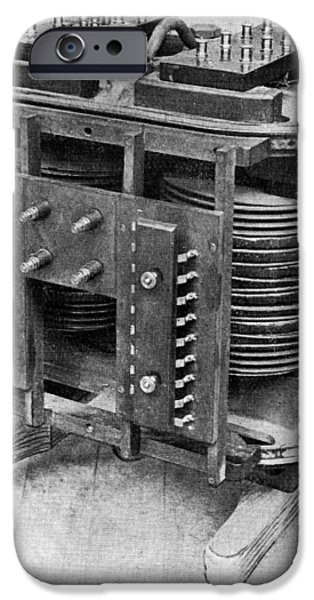 Electrical Equipment iPhone Cases - Testing An Electrical Transformer, 1906 iPhone Case by National Physical Laboratory (c) Crown Copyright
