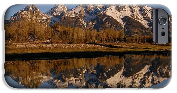 Mountains iPhone Cases - Teton Range, Grand Teton National Park iPhone Case by Pete Oxford