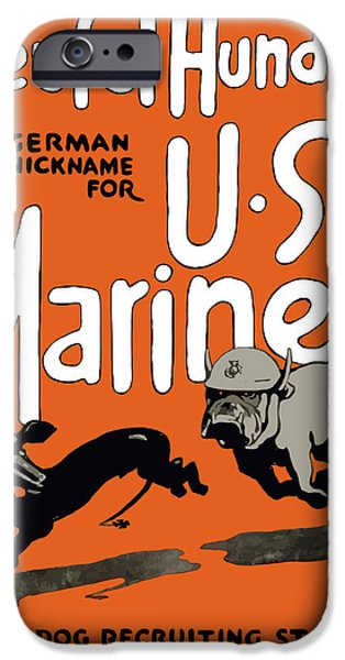 War iPhone Cases - Teufel Hunden German Nickname For US Marines iPhone Case by War Is Hell Store