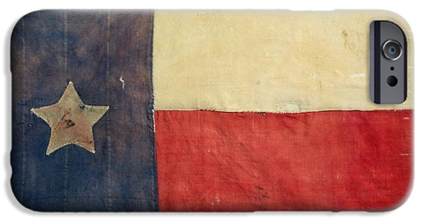 War iPhone Cases - Texas Flag, 1842 iPhone Case by Granger