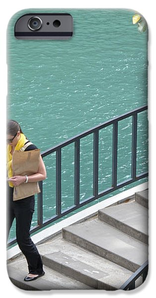 Texting as She Goes iPhone Case by Ann Horn
