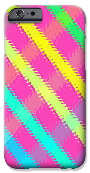 Textured Digital Art iPhone Cases - Textured Check iPhone Case by Louisa Knight