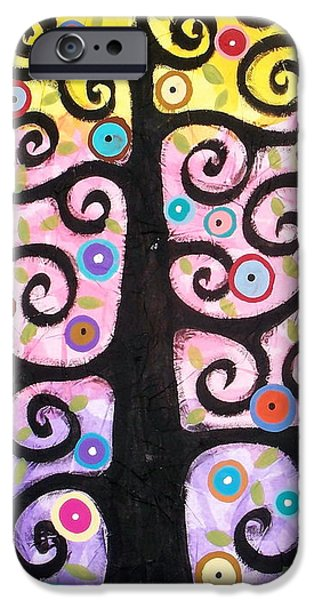 Tree Art Print iPhone Cases - Textured Tree iPhone Case by Karla Gerard