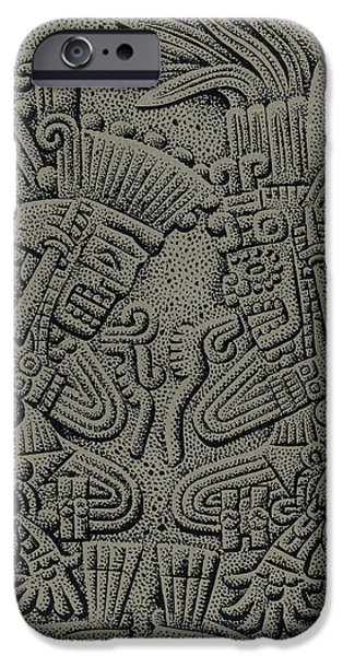 Tezcatlipoca And Huitzilopochtli iPhone Case by Photo Researchers