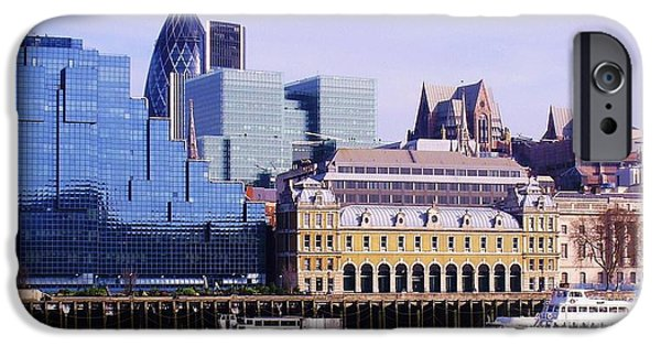 Margaret iPhone Cases - Thames and Financial District - London iPhone Case by John Clark