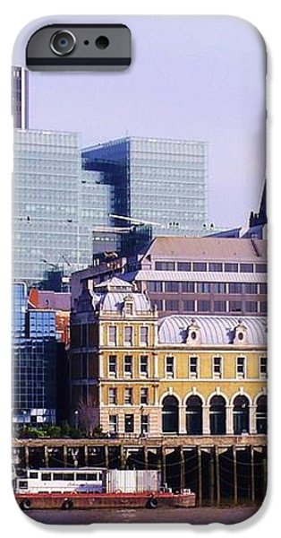 Thames and Financial District - London iPhone Case by John Clark