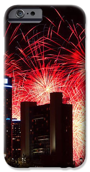 The 54th Annual Target Fireworks in Detroit Michigan - Version 2 iPhone Case by Gordon Dean II