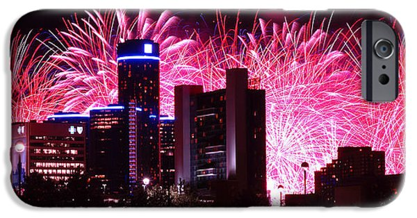 4th July iPhone Cases - The 54th Annual Target Fireworks in Detroit Michigan iPhone Case by Gordon Dean II