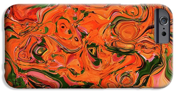 Colors Of Autumn iPhone Cases - The Abstract Days Of Autumn iPhone Case by Andee Design