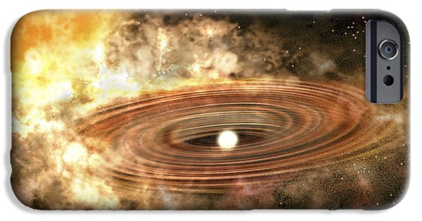 Disc iPhone Cases - The Accretion Disk Around The Binary iPhone Case by Stocktrek Images