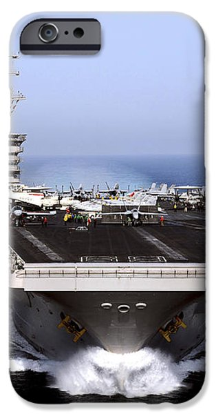 The Aircraft Carrier Uss Dwight D iPhone Case by Stocktrek Images