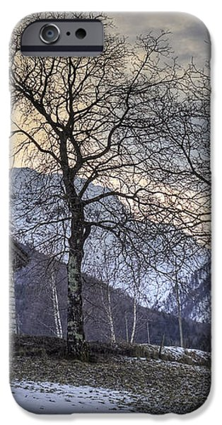 the alps in winter iPhone Case by Joana Kruse