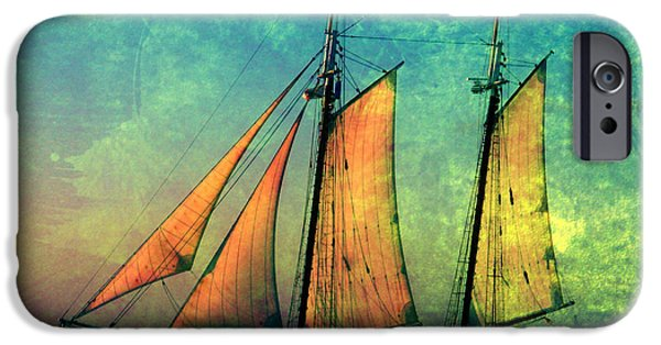 Full Sail iPhone Cases - The America Nr 2 iPhone Case by Susanne Van Hulst