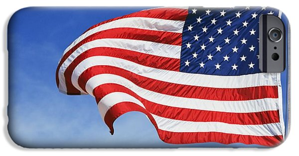 Old Glory iPhone Cases - The American Flag iPhone Case by Craig Tuttle
