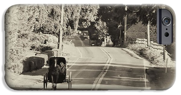 The Horse Photographs iPhone Cases - The Amish Buggy iPhone Case by Bill Cannon