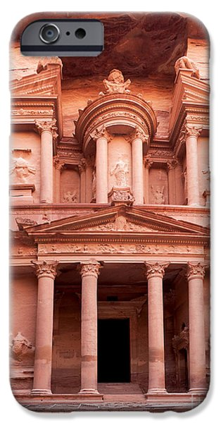 Best Sellers -  - Historic Site iPhone Cases - The ancient Treasury Petra iPhone Case by Jane Rix