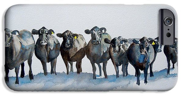 Black Angus iPhone Cases - The Angus Eight iPhone Case by Sharon Mick