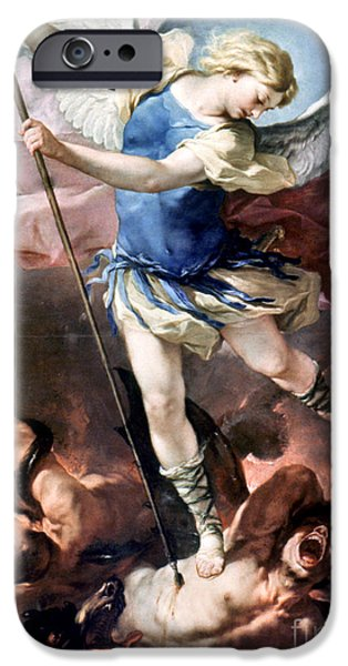 Aod iPhone Cases - The Archangel Michael iPhone Case by Granger