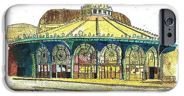 Asbury Park Paintings iPhone Cases - The Asbury Park Casino iPhone Case by Patricia Arroyo