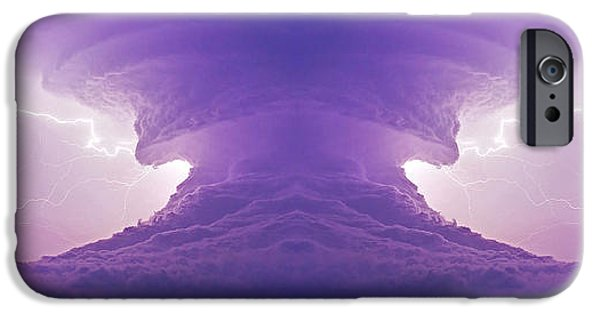 Nebraska iPhone Cases - The Atom Bomb iPhone Case by Chris  Allington