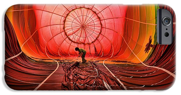 Hot Air Balloon iPhone Cases - The Balloonist - Inside a hot air balloon iPhone Case by Paul Ward