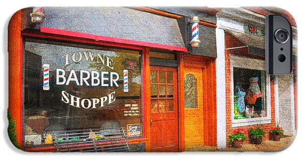 Mayberry iPhone Cases - The Barber Shop iPhone Case by Paul Ward