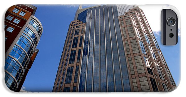 Buildings In Nashville iPhone Cases - The Batman Building Nashville TN iPhone Case by Susanne Van Hulst