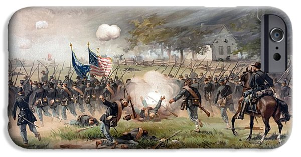 Warishellstore Paintings iPhone Cases - The Battle of Antietam iPhone Case by War Is Hell Store