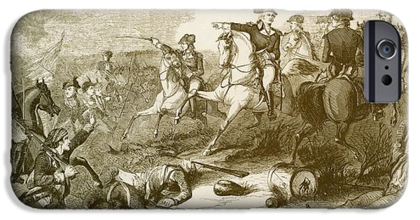 American Revolution iPhone Cases - The Battle Of Monmouth Court House iPhone Case by Photo Researchers