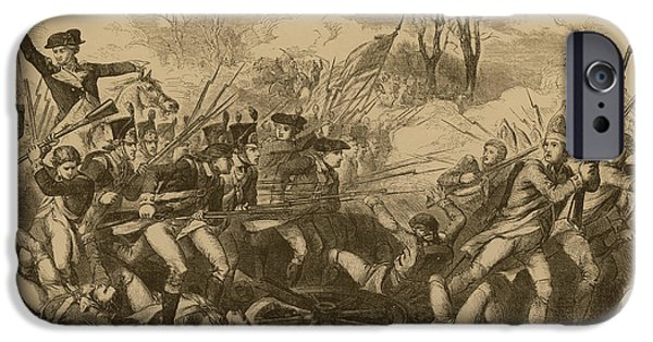 American Revolution iPhone Cases - The Battle Of The Cowpens iPhone Case by Photo Researchers