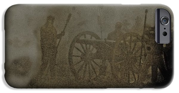 Civil War Re-enactment iPhone Cases - The Battlefield iPhone Case by Kim Henderson