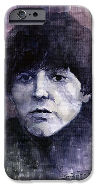 Beatles iPhone Cases - The Beatles Paul McCartney iPhone Case by Yuriy  Shevchuk