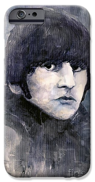Beatle iPhone Cases - The Beatles Ringo Starr iPhone Case by Yuriy  Shevchuk
