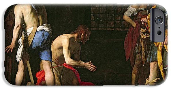 New Martyr iPhone Cases - The Beheading of John the Baptist iPhone Case by Massimo Stanzione