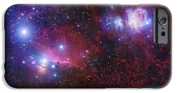 Starfield iPhone Cases - The Belt Stars Of Orion iPhone Case by Robert Gendler