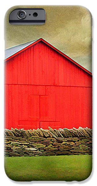 The Big Red Barn iPhone Case by Darren Fisher