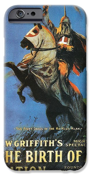 1910s Poster Art iPhone Cases - The Birth of a Nation iPhone Case by Nomad Art And  Design