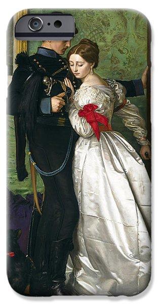 Kate iPhone Cases - The Black Brunswicker iPhone Case by Sir John Everett Millais