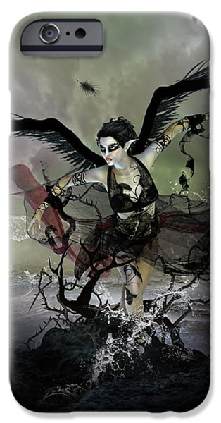 The Black Swan iPhone Case by Karen H