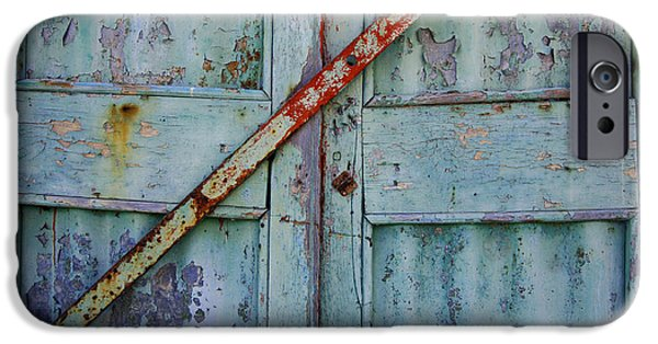 Caribbean Architecture iPhone Cases - The Blue Door 2 Grande Turk iPhone Case by Bob Christopher