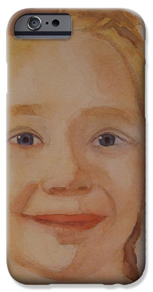Braids iPhone Cases - The Blue-Eyed Duckling iPhone Case by Jenny Armitage