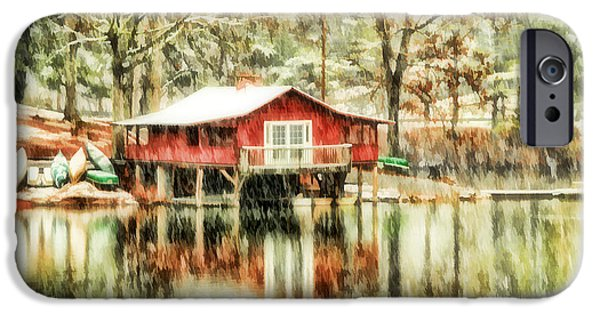 Canoe iPhone Cases - The Boat House iPhone Case by Darren Fisher