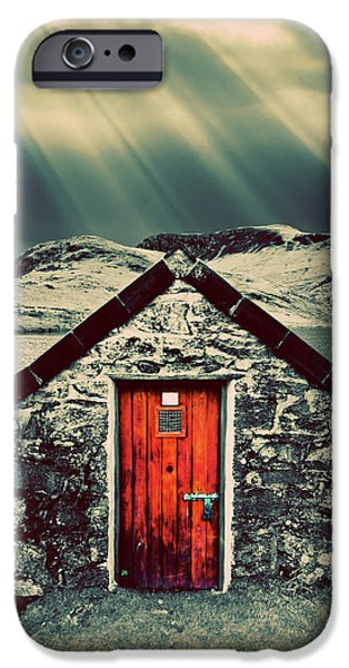 the boathouse iPhone Case by Meirion Matthias