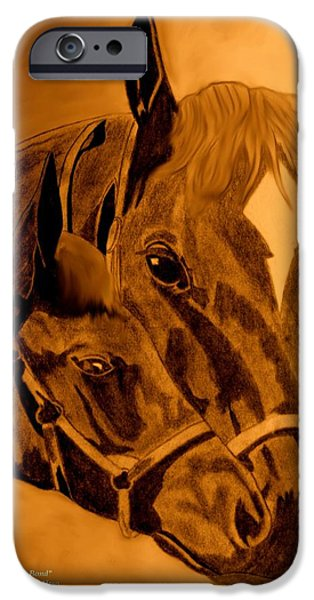 Bonding Mixed Media iPhone Cases - The Bond iPhone Case by Maria Urso