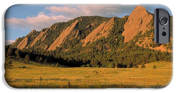 Best Sellers -  - Red Rock iPhone Cases - The Boulder Flatirons iPhone Case by Jerry McElroy