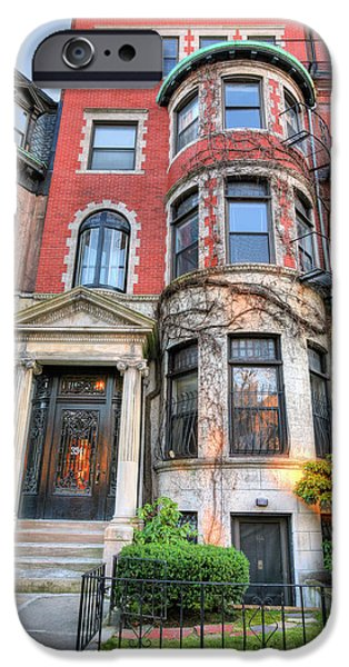 Best Sellers -  - Boston Ma iPhone Cases - The Brownstone  iPhone Case by JC Findley