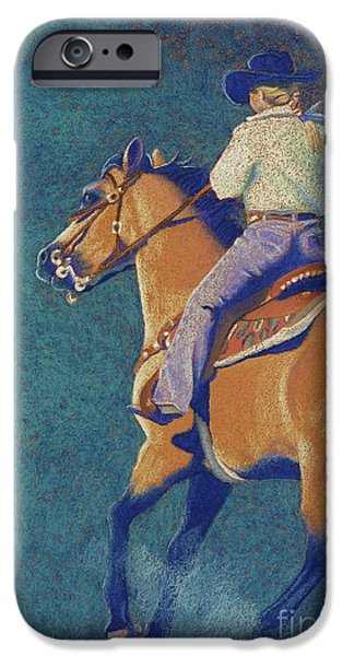Horse Racing Pastels iPhone Cases - The Buckskin iPhone Case by Tracy L Teeter